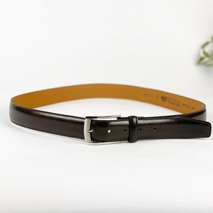 Bosca Hand Stained Leather Belt 42 Inch Canada